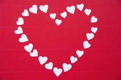 Coeurs faits de papier pour la Saint-Valentin Images stock