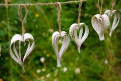 Coeurs faits main de papier de DIY Photographie stock libre de droits
