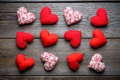 Coeurs faits main pour le jour de valentines de St Image libre de droits