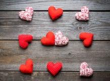 Coeurs faits main pour le jour de valentines de St Image stock