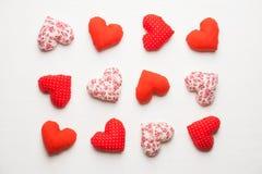 Coeurs faits main pour le jour de valentines de St Photo libre de droits