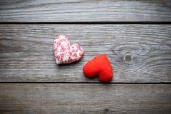 Coeurs faits main pour le jour de valentines de St Photographie stock libre de droits