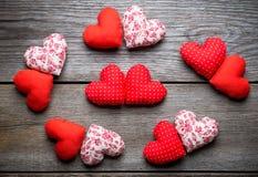 Coeurs faits main pour le jour de valentines de St Photos libres de droits