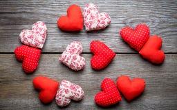 Coeurs faits main pour le jour de valentines de St Photo stock
