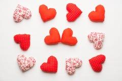 Coeurs faits main pour le jour de valentines de St Photos stock