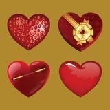 Coeurs, graphismes réglés Image stock