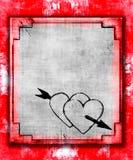 Coeurs grunges Images libres de droits