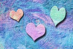 Coeurs grunges de sucrerie Image libre de droits