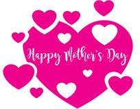 Coeurs heureux de jour du ` s de mère Photo libre de droits