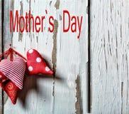 Coeurs heureux de jour du ` s de mère Enfantez ` s jour le jour de la mère s du 26 mai Photographie stock