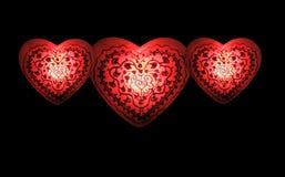 Coeurs II embrasé Image libre de droits