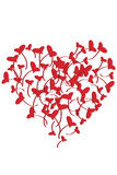 Coeurs illustrés Images libres de droits
