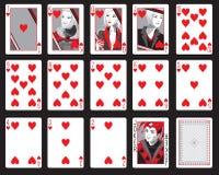 Coeurs jouant des cartes Images libres de droits