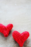 Coeurs le jour de Valentine Image libre de droits
