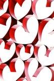 Coeurs liés de ruban Image stock