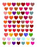 Coeurs lumineux Photo stock