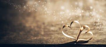 Coeurs magiques de ruban image libre de droits