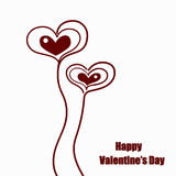 Coeurs mignons de jour de valentines Photo libre de droits