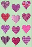Coeurs modelés Photographie stock libre de droits