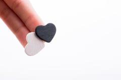 Coeurs noirs et blancs Photo stock