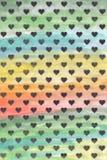 Coeurs noirs sur un fond coloré Fond d'aquarelle Coeurs sur un fond d'aquarelle Fond brouillé photos libres de droits