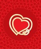 Coeurs noués illustration de vecteur