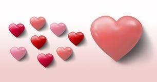 Coeurs pétillants de valentines Photographie stock libre de droits