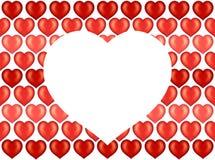 Coeurs papier peint, fond de Valentine illustration de vecteur