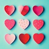 Coeurs peints à la main de vintage Photos libres de droits