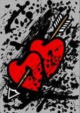 Coeurs percés avec une flèche Illustration Libre de Droits