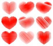 Coeurs peu précis Illustration Libre de Droits