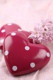 Coeurs pointillés Photos stock