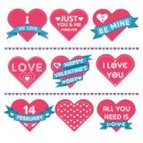 Coeurs pour la célébration de Saint-Valentin illustration stock