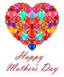 Coeurs pour le jour de mère illustration libre de droits