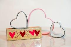 Coeurs pour le jour de valentines Image libre de droits
