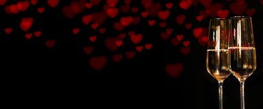Coeurs pour le jour de valentines Photographie stock