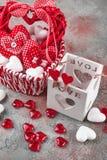 Coeurs pour le jour du ` s de Valentine Photo libre de droits