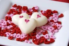 Coeurs pour Valentine Photos stock
