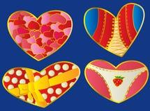 Coeurs réglés Image libre de droits