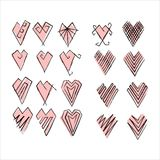 Coeurs réglés Photo libre de droits