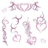 Coeurs, résumé illustration libre de droits