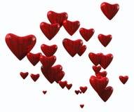 Coeurs rayés faits au hasard Image libre de droits