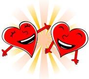 Coeurs riants Illustration de Vecteur