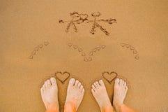 Coeurs romantiques d'amour le jour de valentines Photographie stock