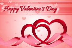 Coeurs romantiques du ` s de Valentine Photographie stock