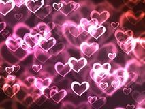 Coeurs roses Photos libres de droits