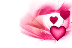Coeurs roses Photo libre de droits