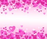 Coeurs roses illustration stock