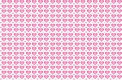 Coeurs roses au jour de valentines photographie stock