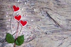 Coeurs roses de rouge Photos libres de droits